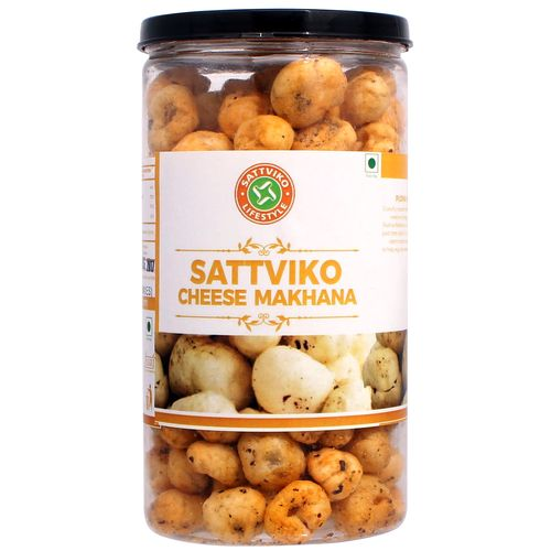 Sattviko Herb and Cheese Makhana Pet Jar (75 Grams)