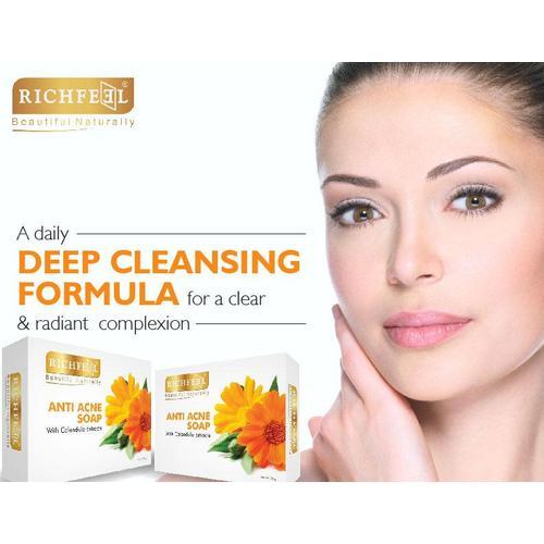 Richfeel Calendula Acne Soap (75 g) For Acne & Acne Marks