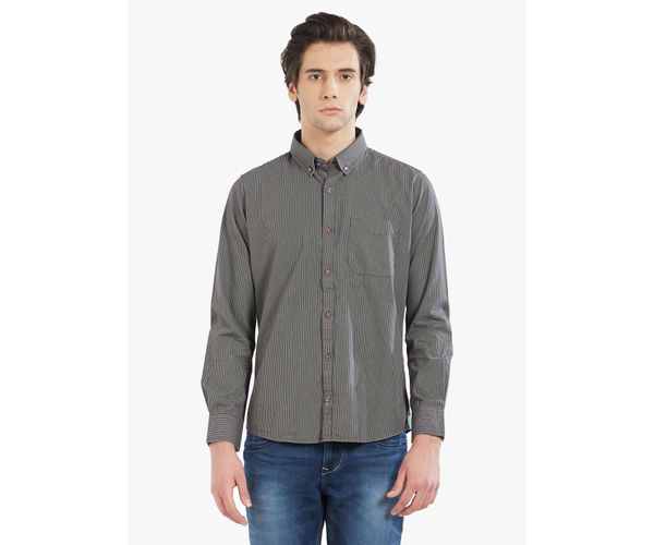 LAWMAN PG3 Men's Slim Fit Green Shirt