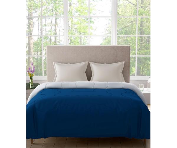 Stellar Home Blockbuster Collection - True Navy & Grey Damn Reversible Queen Size Comforter (Super Soft Micro)