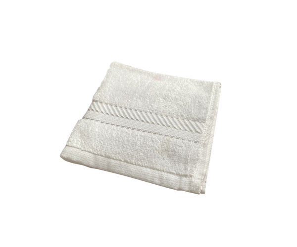 Stellar Home Crystal Collection - White 1 Piece Face Towel, (100% Cotton, 30 x 30 cms)