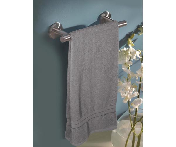 Stellar Home Crystal Collection - Extra Large Smokey Grey 1 Piece Bath Towel, GSM - 380 (100% Cotton, 90 x 180 cms)