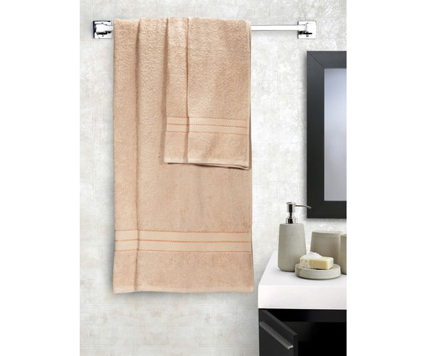 Stellar Home Crystal Collection - Cloud Cream 4 Piece Bath Towel & Hand Towel Set, GSM - 380 (100% Cotton, 70 x 140 cms & 40 x 60 cms)