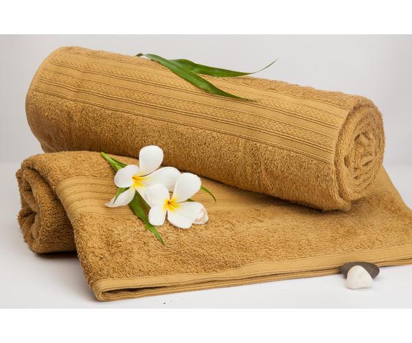 Stellar Home Premium Jacquard Collection - Small Orange Brown 1 Piece Bath Towel, GSM - 380 (100% Cotton, 70 x 140 cms)