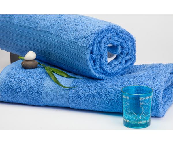 Stellar Home Premium Jacquard Collection - Small Deep Blue 1 Piece Bath Towel, GSM - 380 (100% Cotton, 70 x 140 cms