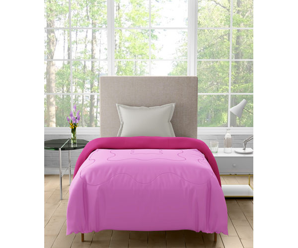 Stellar Home Enya Collection - Rose Pink Printed Reversible Single Size Comforter (Polyester)