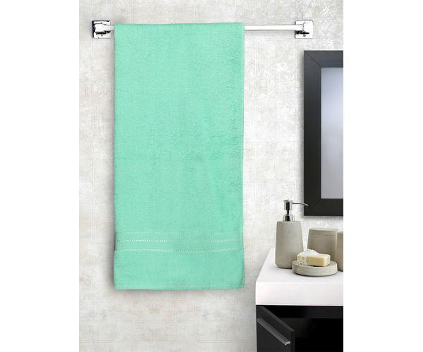 Stellar Home Crystal Collection - Small Green 1 Piece Bath Towel, GSM - 380 (100% Cotton, 70 x 140 cms)