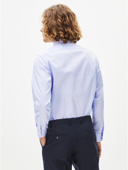 Light Blue Printed Formal Shirt