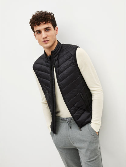 Black Solid Gilet