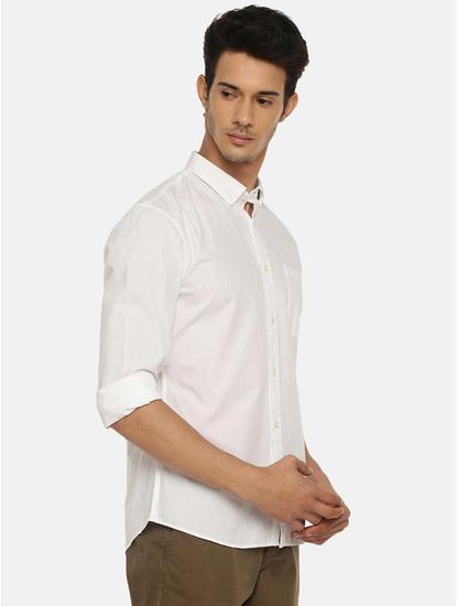 100% Cotton Magic Wash White Shirt