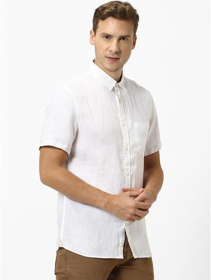100% Linen White Shirt