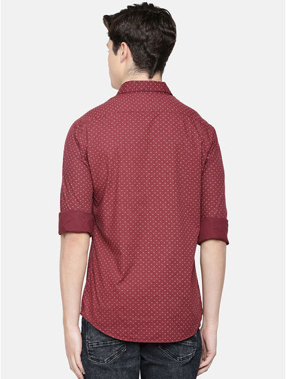 100% Cotton Magic Wash Burgundy Shirt