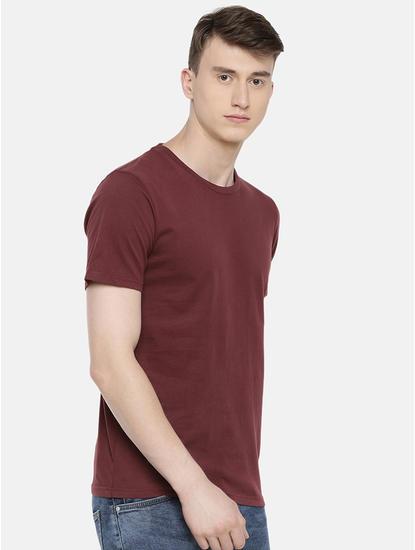 100% Cotton Burgundy T-Shirt