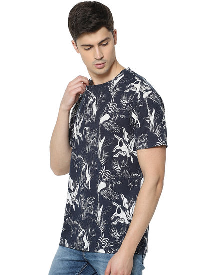Printed Navy T-Shirt