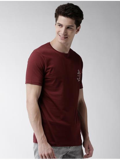 Maroon Solid T-Shirt