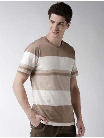 Beige Striped T-Shirt