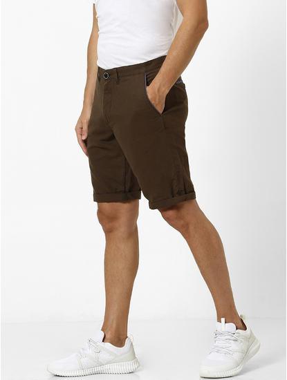 Linen Slim Fit Brown Chinos