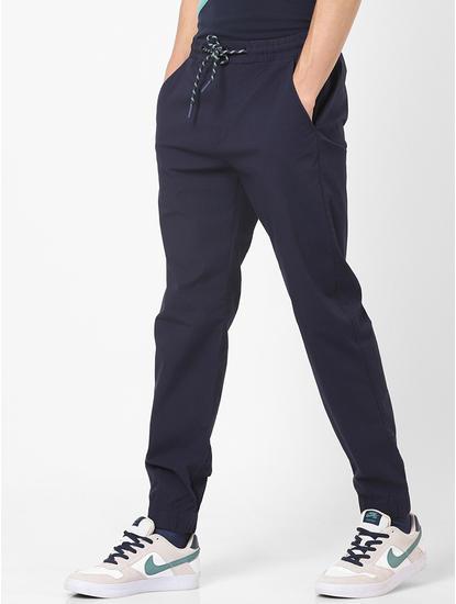 Slim Fit Cotton Blend Blue Trouser
