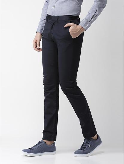Slim Fit Cotton Blend Navy 01 Trouser