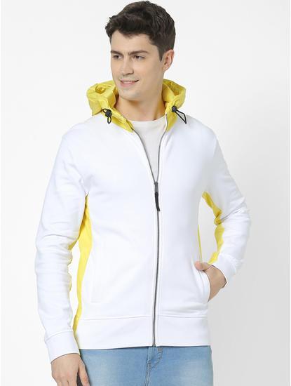 100% Cotton White Hoodies