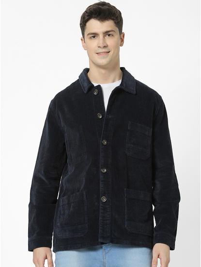 100% Cotton Regular fit navy jacket