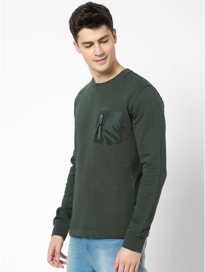 100% Cotton straight Fit Blue Sweatshirt