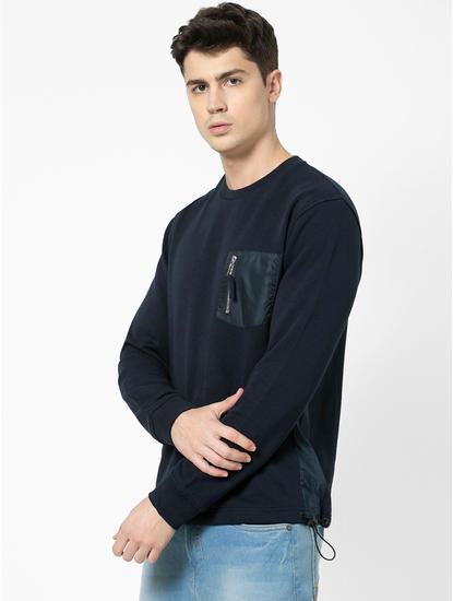 100% Cotton straight Fit Navy Sweatshirt