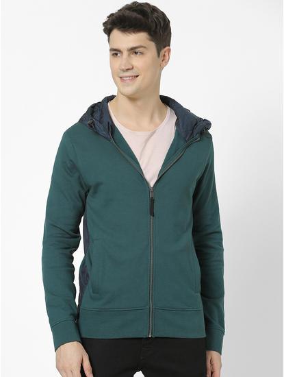 100% Cotton dark Green Hoodies
