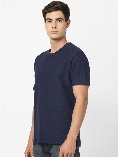 100% Cotton Navy striped T-Shirt