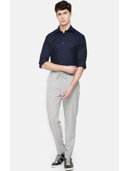 24 Hr  Slim Fit Grey Pants