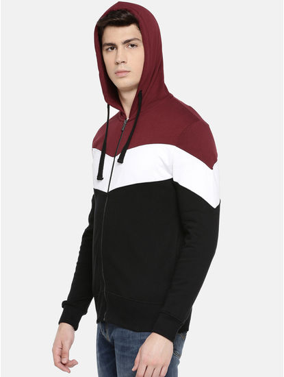 Black Colourblock Hoodie