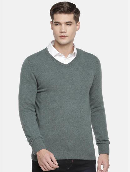 Green Melange Sweater