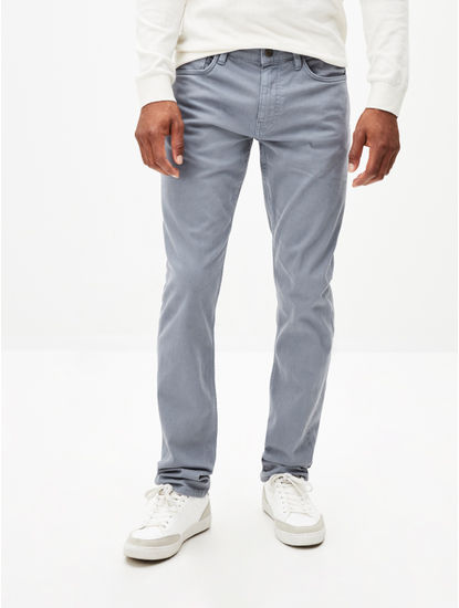 Blue Straight Fit Chinos
