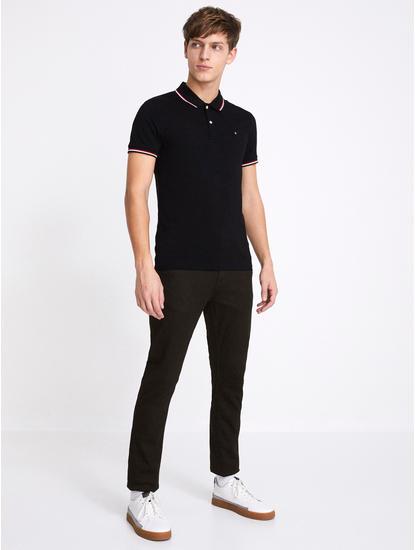 Powerflex Black Solid Slim Fit Jeans