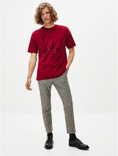 Dark Red Printed T-Shirt