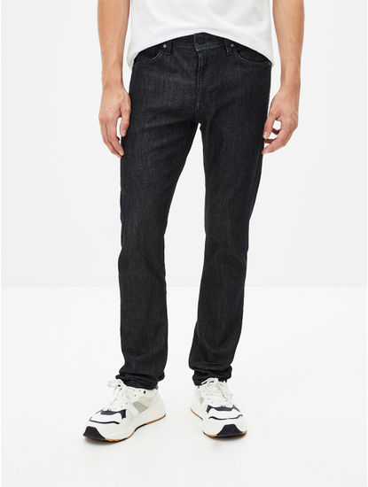 Indigo Solid Water Repellent Slim Fit Denim Jeans