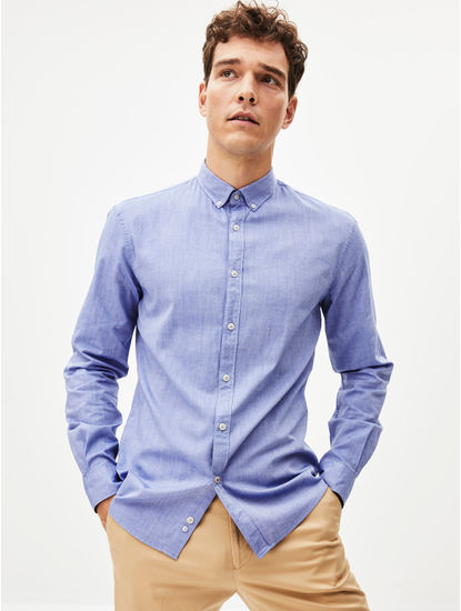 100% Cotton Blue Shirt