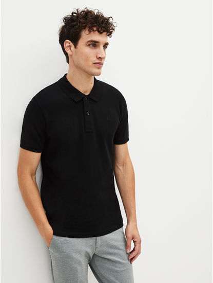 100% Cotton Black Polo T-Shirt