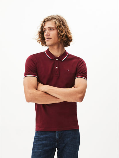 100% Cotton Burgundy Polo T-Shirt