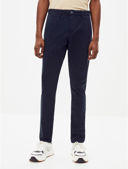 Blue Skinny Fit Chinos
