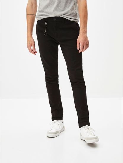 Black Skinny Fit Chinos