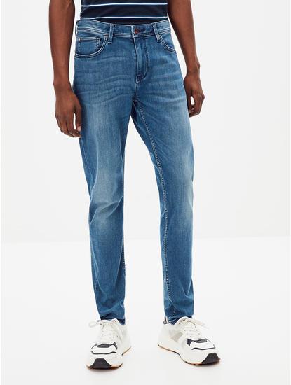 Powerflex Dark Blue Solid Slim Fit Jeans