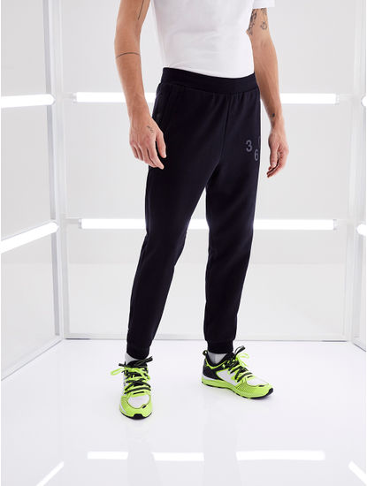 Black Solid Joggers