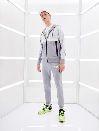 Grey Melange Regular Fit Joggers
