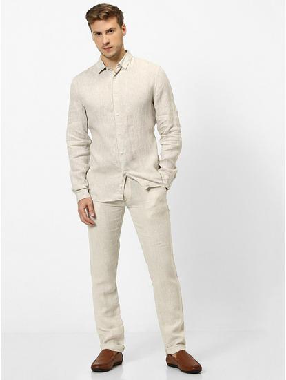 100% Linen Natural Shirt