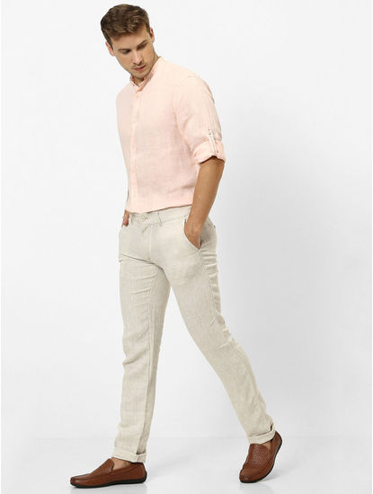 Off White Slim Fit Chinos