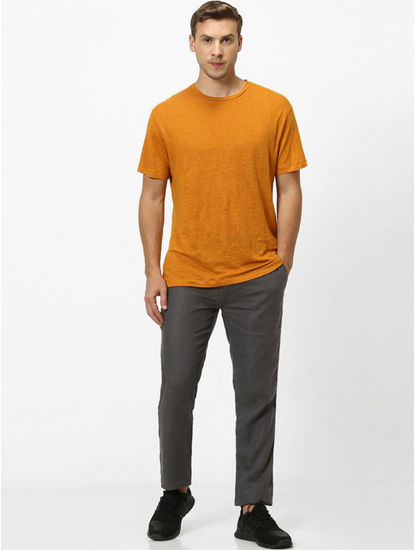100% Linen Curry T-Shirt