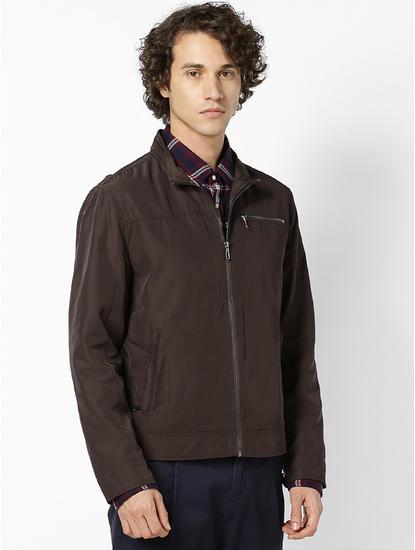 Brown Jacket With Shirt Collar