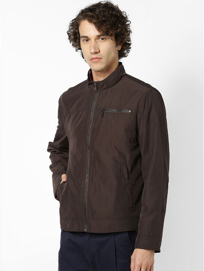 Brown Jacket With Shirt Collar