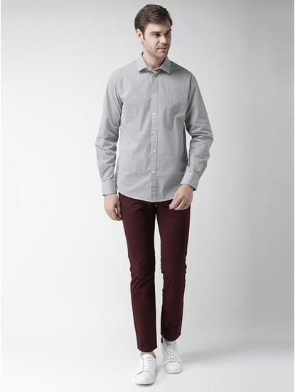Beige Printed Regular Fit Casual Shirt